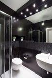 Modern design av badrummet royaltyfria foton