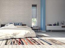 Modern design av sovrummet Royaltyfri Foto