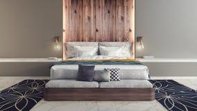 Modern design av sovrummet Royaltyfri Bild