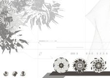 Modern Design Background. Design Background royalty free illustration