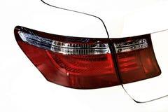 Modern design, backlight of white car. Modern design, backside of car,white car close up backlight Stock Photos