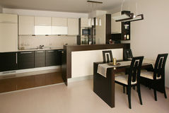 Kitchen. Modern design bar kitchen interior Stock Photography