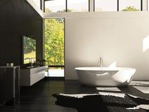 Modern Design bathroom | Interior Architecture. A 3d rendering of modern bathroom interior Royalty Free Stock Images