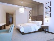 Modern design bedroom minimalist interior Stock Photography