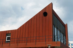 Modern design building with a rusty facade Royalty Free Stock Images