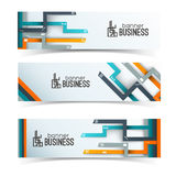Modern design. Business banners set Stock Photography
