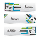 Modern design. Business banners set Stock Photo