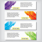 Modern design business clean number banners template or website layout. Info-graphics. Vector. Clean, blue, green, violet, yellow and red background Stock Photo