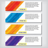Modern design business number banners template or website layout. Info-graphics. Vector. Royalty Free Stock Photo