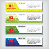 Modern design business number banners template or website layout. Info-graphics. Vector. Royalty Free Stock Photos