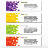 Modern design business number banners template or website layout. Info-graphics. Vector. Purple, yellow, green, red Stock Images