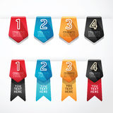 Modern Design button banners number vector illustr Royalty Free Stock Photos