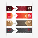 Modern design button tag blank rectangle labels set / can be use Stock Photo