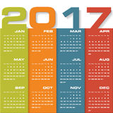 Modern design calendar 2017 year vector design template.12 mounts from January-December 2017. Stock Photos