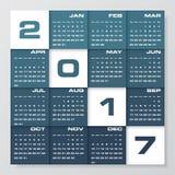 Modern design calendar 2017 year vector design template.12 mounts from January-December 2017. Week Starts Sunday. EPS10 Stock Photo