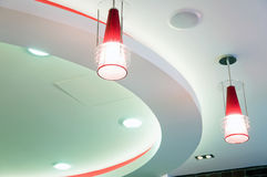 Modern design ceiling Royalty Free Stock Images