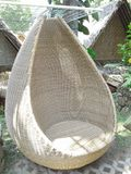 chair from rattan royalty free stock photos