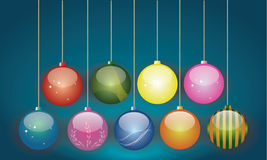 Modern design Christmas Ornaments. Christmas ornaments modern design, objects for use in other graphic works Royalty Free Stock Photos