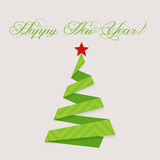 Modern design christmas tree Happy New Year Stock Photo