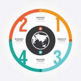 Modern Design circle template / can be used for info graphics. Royalty Free Stock Images
