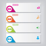 Modern design clean number banner with business concept used for website layout. Infographic. Design clean banners template/graphic or website layout. Vector Royalty Free Stock Photography