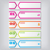 Modern design clean number banner with business concept used for website layout. Infographic. Design clean banners template/graphic or website layout. Vector Royalty Free Stock Image