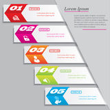Modern design clean number banner with business concept used for website layout. Infographic. Design clean banners template/graphic or website layout. Vector Stock Images