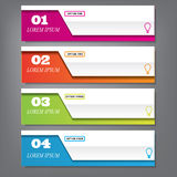 Modern design clean number banners with business concept used for website layout, or website design. Stock Photos