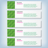 Modern design clean number banners used for website layout. Infographic. Modern design clean banners template graphic or website layout. Vector Stock Photography