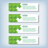 Modern design clean number banners used for website layout.. Modern design clean banners template graphic or website layout. Vector Royalty Free Stock Image