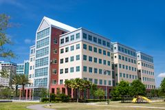 Modern design coastal office b. Multi-story office building in the riverwalk area of Jacksonville, Florida Stock Photography