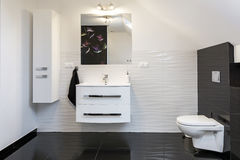 Modern design comfortable bathroom Royalty Free Stock Photo