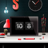 Modern design concept office workspace. Vector illustration Stock Photography
