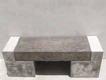Modern design concrete cement chair Royalty Free Stock Photography