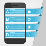 Modern design creative infographic with mobile phone. Royalty Free Stock Image