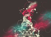 Modern  design with curly shapes Royalty Free Stock Images