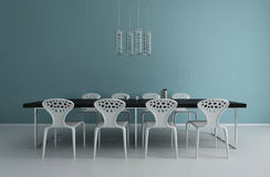 Modern Design Dining Room | Interior Architecture Royalty Free Stock Images