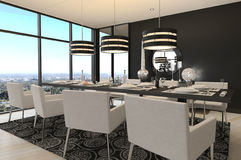 Modern Design Dining Room | Living Room Interior Stock Images