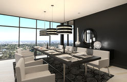 Modern Design Dining Room | Living Room Interior Stock Photos