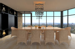Modern Design Dining Room | Living Room Interior Stock Photo