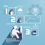 Modern Design Education infographic paper cut temp Royalty Free Stock Photos