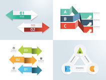 Modern design elements infographic template set. Royalty Free Stock Photo