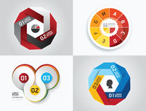 Modern design elements infographic template set. Royalty Free Stock Images