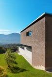 Modern design för arkitektur, hus Arkivbilder