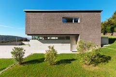 Modern design för arkitektur, hus Arkivbild