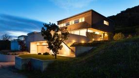 Modern design för arkitektur, hus Arkivfoto