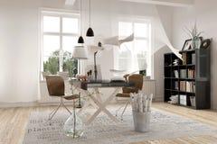 Modern design för arkitekturkontorsinre Royaltyfria Foton