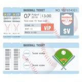 Modern design för baseballbiljett Royaltyfri Fotografi