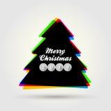 Modern design för glad jul 2014 Arkivbild