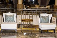 modern design för hotelllobbyinre Royaltyfri Fotografi